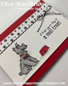 Ellen Woodbridge Independent Stampin' Up!® Demonstrator - Central Coast NSW Australia: Stampin' Up! Pampered Pets and Playful Pets Card Stamped Christmas Cards, Xmas Cards, Dog Cards Handmade, 123 Cards, Stamping Up Cards, Animal Cards, Cards For Friends, Cardmaking, Birthday Cards