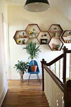 Bohemian Homes: Hexagon shelves