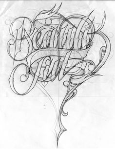 Pin by magaly aguirre on art graffiti lettering, chicano let Graffiti Tattoo, Graffiti Alphabet, Graffiti Lettering, Chicano Lettering, Tattoo Lettering Fonts, Lettering Styles, Arte Cholo, Typography Inspiration, Design Inspiration