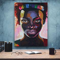 African-American Woman art, Melanin Art, Beauty Woman, African Art,  Black Lives Matter, Home Wall Art, Housewarming Gift, Black Woman Art Poster Decorations, Black Women Art, Black Artists, African American Women, Minimalist Art, Home Wall Art, Contemporary Paintings, African Art, Female Art