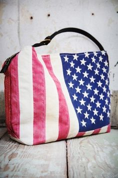 Americana handbag fashion girly flag america 4th of july bag
