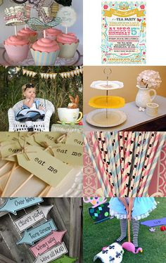 Planning a Mad Hatter Party? Don't get lost in the rabbit hole! Here are some great finds to pull your party together Alice in Wonderland style! 3 tier cake stand, alice in wonderland, baby shower, birthday, bridal shower, cake stand, cupcake stand, decor, dessert table, mad hatter, mad hatter party, tea party, tiered cupcake stand, --Pinned with TreasuryPin.com