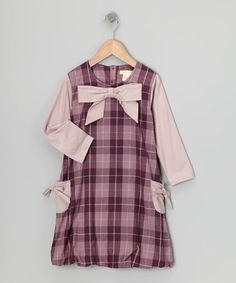 Take a look at this Purple Plaid Organic Bubble Dress - Infant, Toddler & Girls by violet + moss on #zulily today!