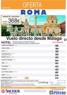 ROMA (Avión + Hotel) salidas desde Málaga - Octubre ultimo minuto - http://zocotours.com/roma-avion-hotel-salidas-desde-malaga-octubre-ultimo-minuto/