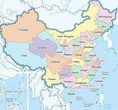 Map of China Provinces and Cities China has 34 provincial-level administrative units: 23 provinces, 4 municipalities (Beijing, Tianjin, Shanghai, Chongqing), 5 autonomous regions (Guangxi, Inner Mongolia, Tibet, Ningxia, Xinjiang) and 2 special administrative regions (Hong Kong, Macau).