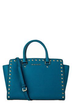 elegant blue bag with studs by michael kors zalando michael kors. Black Bedroom Furniture Sets. Home Design Ideas