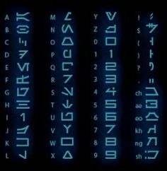 Star Wars Arabesh Alphabet