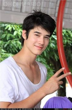 """One of the Thai celebrities we love: Mario Maurer """"He is a famous Thai actor who appeared in Thailand's highest grossing film of all time, Pee Mak. Handsome Actors, Handsome Boys, Thai Dating, Mario Maurer, Home Photo Shoots, Dream Boy, Thai Drama, Actor Model, Asian Actors"""