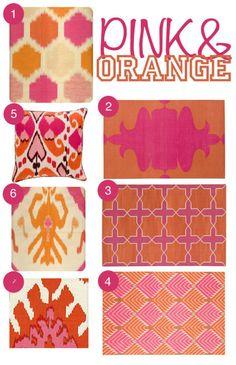 pink & orange color scheme