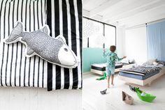fish pillow from FemkeVeltkamp / Windstilte & Rafa-kids A teen bed