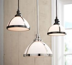 Milk Glass Pendant hood + Bronze Bulb Kit, Large at Pottery Barn - All For Decoration Kitchen Island Lighting, Kitchen Lighting Fixtures, Kitchen Pendant Lighting, Kitchen Pendants, Glass Pendant Light, Ceiling Light Fixtures, Pendant Light Fixtures, Pendant Lights, Island Pendants