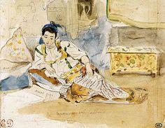 delacroix-watercolor in morocco