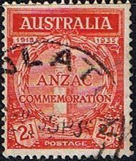 Australia 1935 Anzac SG 154 Fine Used Scott 150 20th Anniv of Gallipoli Landing Other Australian Stamps HERE