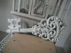 ornamental wall key shabby chic wall decor french by ShabbyRoad, $22.00