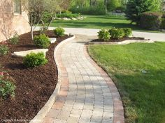 brick paver walkway pics side house | Brick Walkways Michigan Brick Paving and Landscape Design Servicing ...