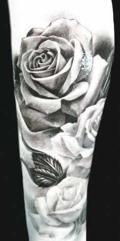 Eric Marcinizyn | Inked Magazine - I cant get over how much i love rose tattoos