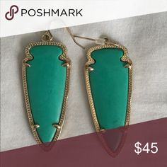 NOT selling. Are these turquoise or teal? Can't tell if these are real or turquoise Kendra Scott Jewelry Earrings