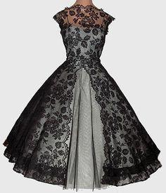 Black net adorable party dress