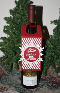 Stampin' Up! Merry Little Christmas bottle hanger by Stampoint