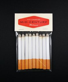 Mad Men, Mid-Century, 50s Housewife Party Puff Cigarettes