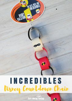 Count down the days until your Incredible Disney Vacation with this fun Incredibles family countdown chain. Make your own vacation paper chain with our template and simple tutorial. Pixar Fest is in full swing at the Di. Hotels Near Disneyland, Disneyland Vacation, Disney Vacations, Disney Trips, Disney Travel, Disney Food, Disneyland Countdown, Get Away Today, Paper Chains