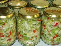 Rozi erdélyi,székely konyhája: Csalamádé Hungarian Desserts, Hungarian Recipes, Hungarian Food, Good Food, Yummy Food, Healthy Alternatives, Salad Dressing, Pickles, Food And Drink