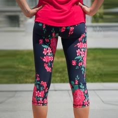 Go Capri, ANTIGUA from Albion Fit. These are super cute and great for your daily workout!