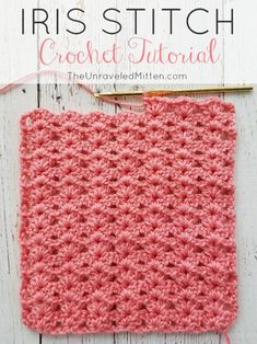 The Iris crochet stitch is an easy, elegnt shell type stitch with a one row repeat. Its excellant drape make is a great choice for blankets, scraves, home decor and more! # crochet stitches for blankets Iris Stitch Crochet Tutorial Free Form Crochet, Beau Crochet, Crochet Simple, Stitch Crochet, Gilet Crochet, Crochet Hooks, Crochet Afghans, Crochet Stitches For Blankets, Crochet Stitches Patterns