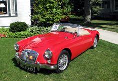 MGA Vintage Sports Cars, British Sports Cars, Vintage Cars, Antique Cars, My Dream Car, Dream Cars, Peugeot, Classic Car Restoration, Mg Cars