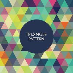 Geometric Triangle Pattern Vector Graphic 300 x 300 px