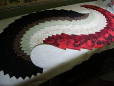 I had my strata's sewed and already for the cutting of the wedges this morning. I had a hard time to cut the wedges from strata and I made a...