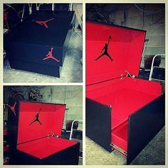Custom Fullsize Micheal Jordan shoe storage box.... 18-24 pairs of J's $600  shipping NiceBox651@gmail.com