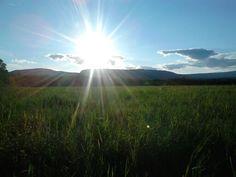 Couché de soleil en campagne