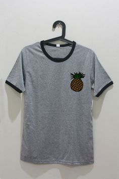 Pineapple Pocket Shirt Gray T-Shirt Teens Teenage by ChicMyStyles