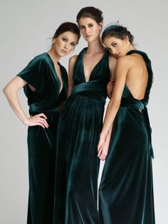 Items similar to VINTAGE ORIGIN Bridesmaid Infinity Dress in Emerald Green Velvet on Etsy - If we go with Emerald…. Infinity Dress in Emerald Green Velvet - Emerald Bridesmaid Dresses, Infinity Dress Bridesmaid, Winter Bridesmaid Dresses, Winter Bridesmaids, Wedding Party Dresses, Bridesmaid Ideas, Forrest Green Bridesmaid Dresses, Velvet Bridesmaid Gowns, Emerald Green Wedding Dress