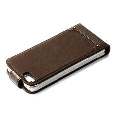 【【iPhone5s/5 ケース】Rock Vintage Folder ダークブラウン】ビンテージロックスタイルフォルダタイプは、カジュアルでライトな…