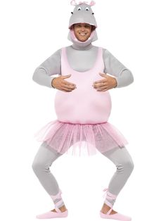 Buy Adult Ballerina Hippo Costume, available for Next Day Delivery. Have Fun Prancing around in our Adult Ballerina Hippo Costume! Hippo Costume, Pink Costume, Costume Shop, Animal Costumes, Adult Costumes, Food Costumes, Christmas Costumes, Halloween Costumes, Halloween Shoes