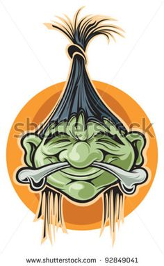 Shrunken Head Art | Shrunken head - stock vector
