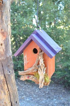#Birdhouse Handmade Rustic Country by BirdhousesByMichele on Etsy
