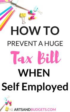 WAYS TO PREVENT A BIG TAX BILL