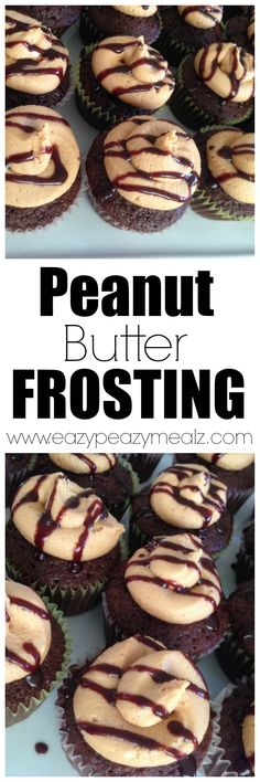 An amazing and EASY to make peanut butter frosting. It tastes like the inside of a REESE'S and is so good you'll want to eat it with a spoon. - Eazy Peazy Mealz