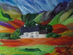 Textile wall art by Sue Forey