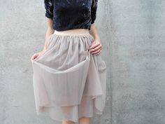Tutoriel DIY: Coudre une jupe à élastique en organza via DaWanda.com