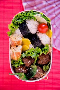 Meatballs Bento  via bento: https://www.facebook.com/bentoandco?hc_location=stream