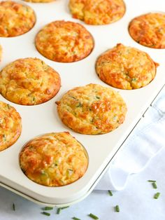 A quick and simple Savoury Muffins recipe. Packed with Cheese and Sweetcorn, these vegetarian bakes make a brilliant lunchbox filler, picnic pack up or breakfast for kids and grown ups too. Savoury Muffins Vegetarian, Vegetarian Bake, Savory Muffins, Savory Breakfast, Savory Snacks, Breakfast For Kids, Yummy Snacks, Cheese Muffins, Healthy Snacks