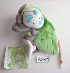 Banpresto Pokemon Meloetta Voice form 2012 Plush Doll.with the bonus item #Banpresto