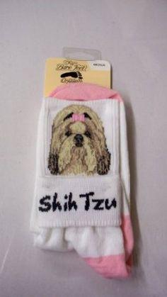 Amazon.com: For Bare Feet Dog Breed Shih Tzu Roll Down Sock: Pet Supplies
