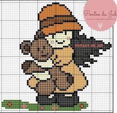 Maria Clara, Sweet Girls, Cross Stitch Patterns, Teddy Bear, Toddler Chart, Cross Stitch Designs, Little Girls, Baby Girls, How To Make Crafts