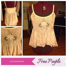 Adorable HiLo crushed velvet top In excellent like new condition with beautiful details like mirror appliqués and ribbon straps. Comes with adjustable straps Free People Tops