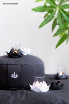DIY Origami Lotusblüte